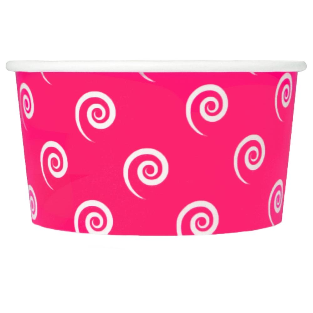 UNIQ 6 oz Pink Swirls and Twirls Take Out Cups
