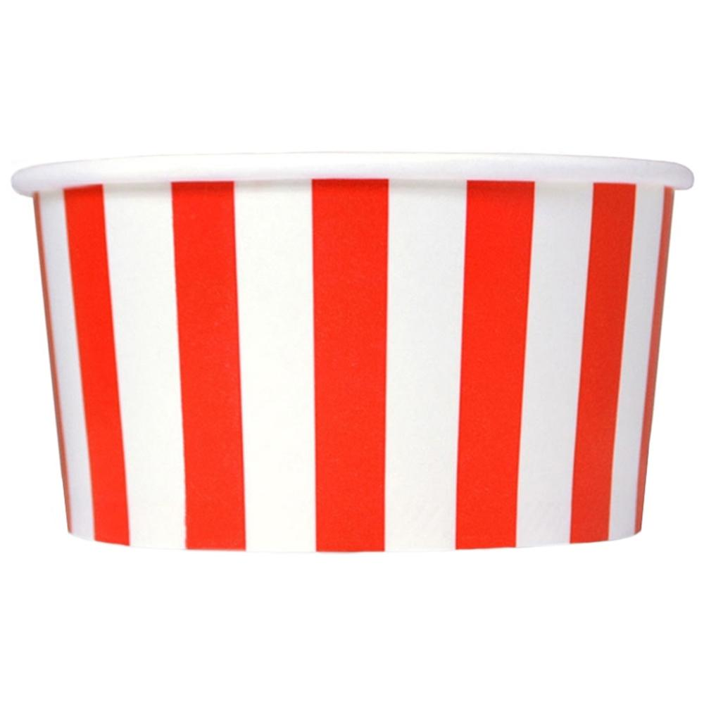 UNIQ 6 oz Red Striped Madness Take Out Cups