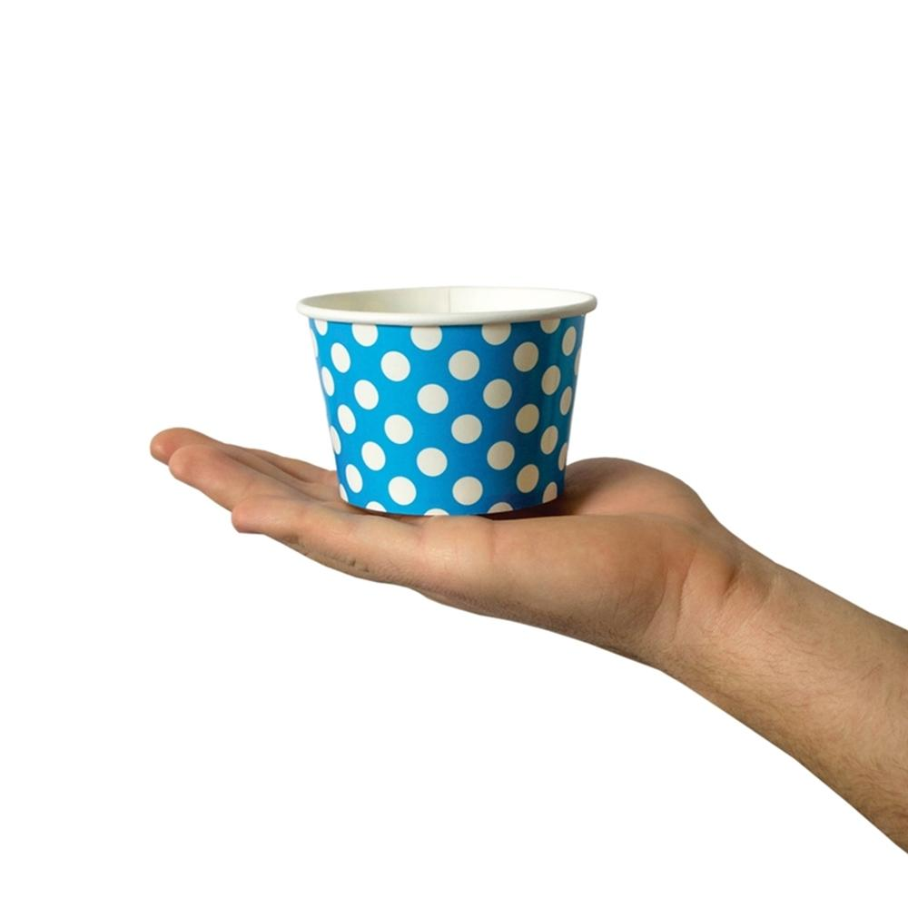 UNIQ 8 oz Blue Polka Dotty Take Out Cups