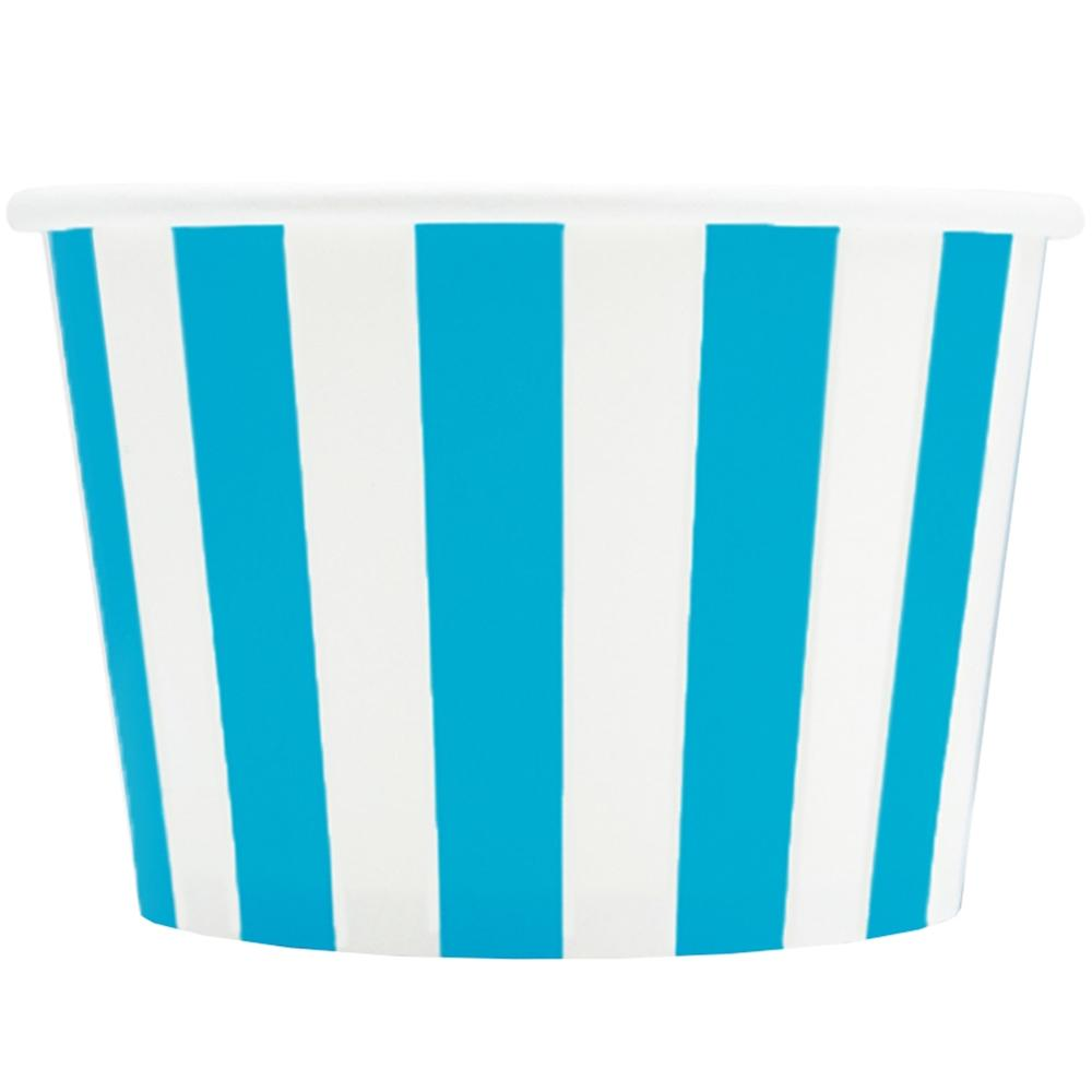 UNIQ 8 oz Blue Striped Madness Take Out Cups