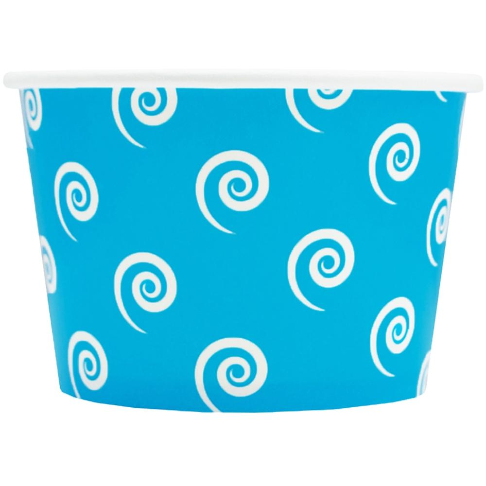 UNIQ 8 oz Blue Swirls and Twirls Take Out Cups