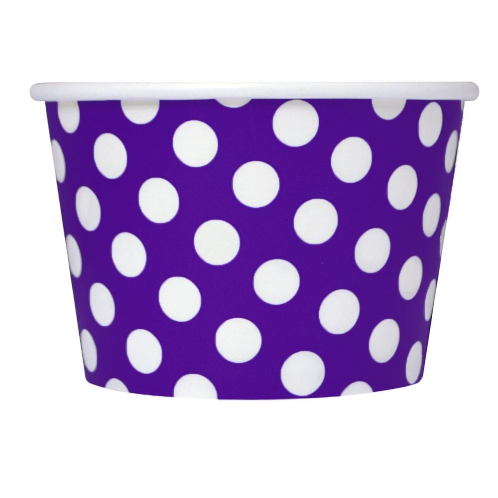 UNIQ 8 oz Purple Polka Dotty Take Out Cups