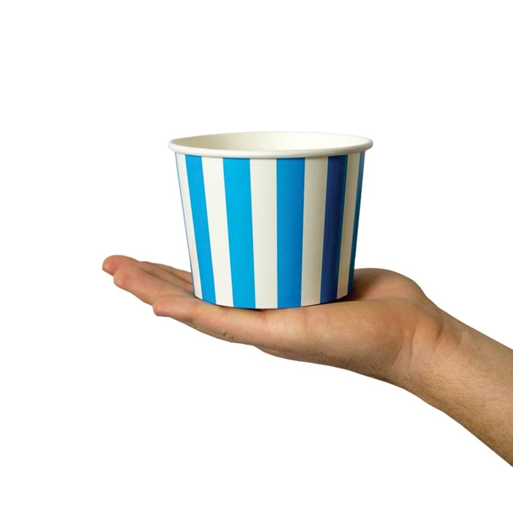 UNIQ 16 oz Blue Striped Madness Take Out Cups
