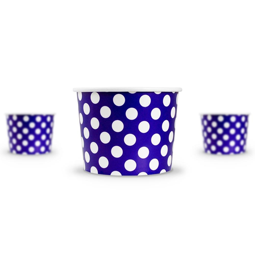 UNIQ 16 oz Purple Polka Dotty Take Out Cups