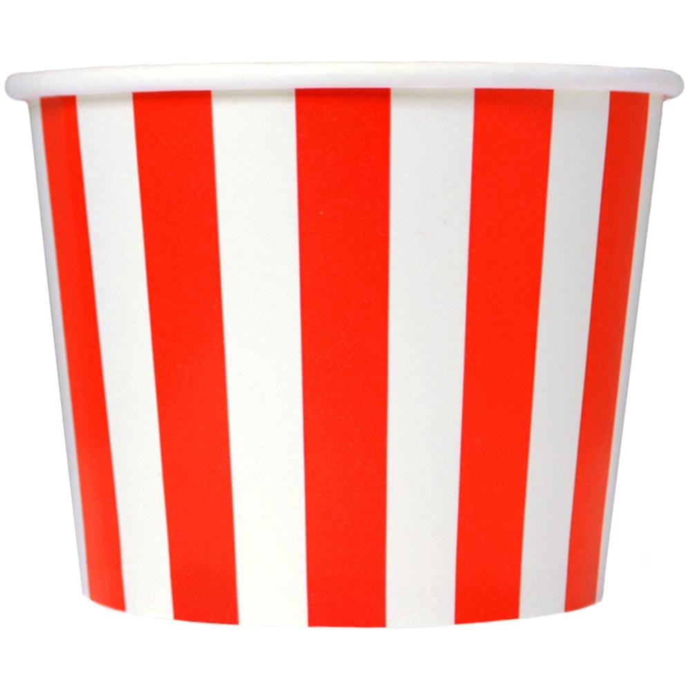 UNIQ 16 oz Red Striped Madness Take Out Cups