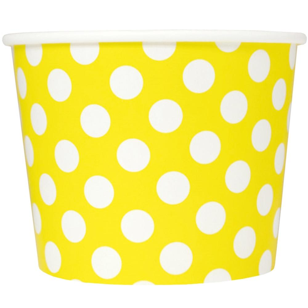 UNIQ 16 oz Yellow Polka Dotty Take Out Cups