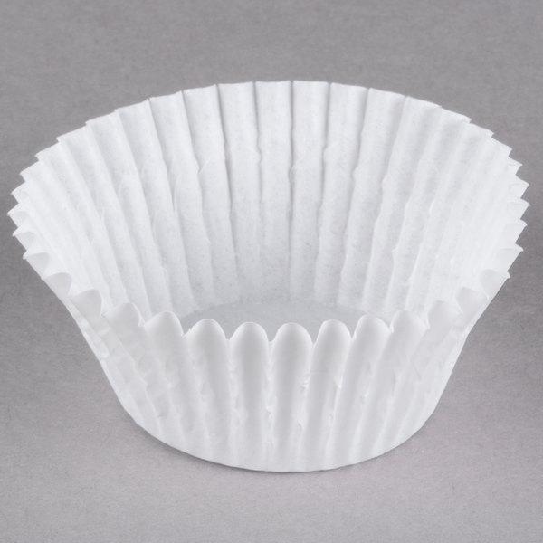 White Fluted Baking Cup