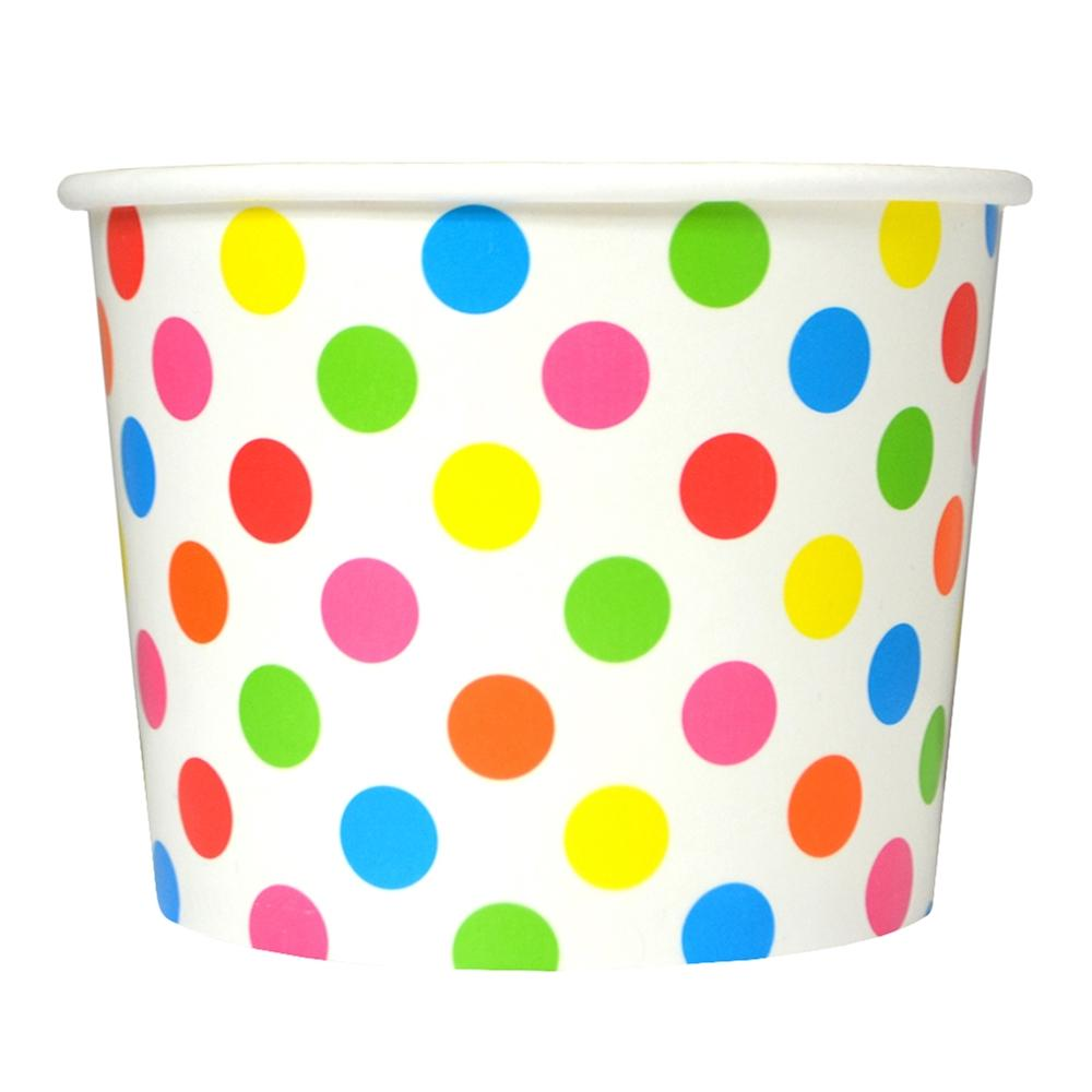 UNIQ 16 oz Rainbow Polka Dotty Take Out Cups