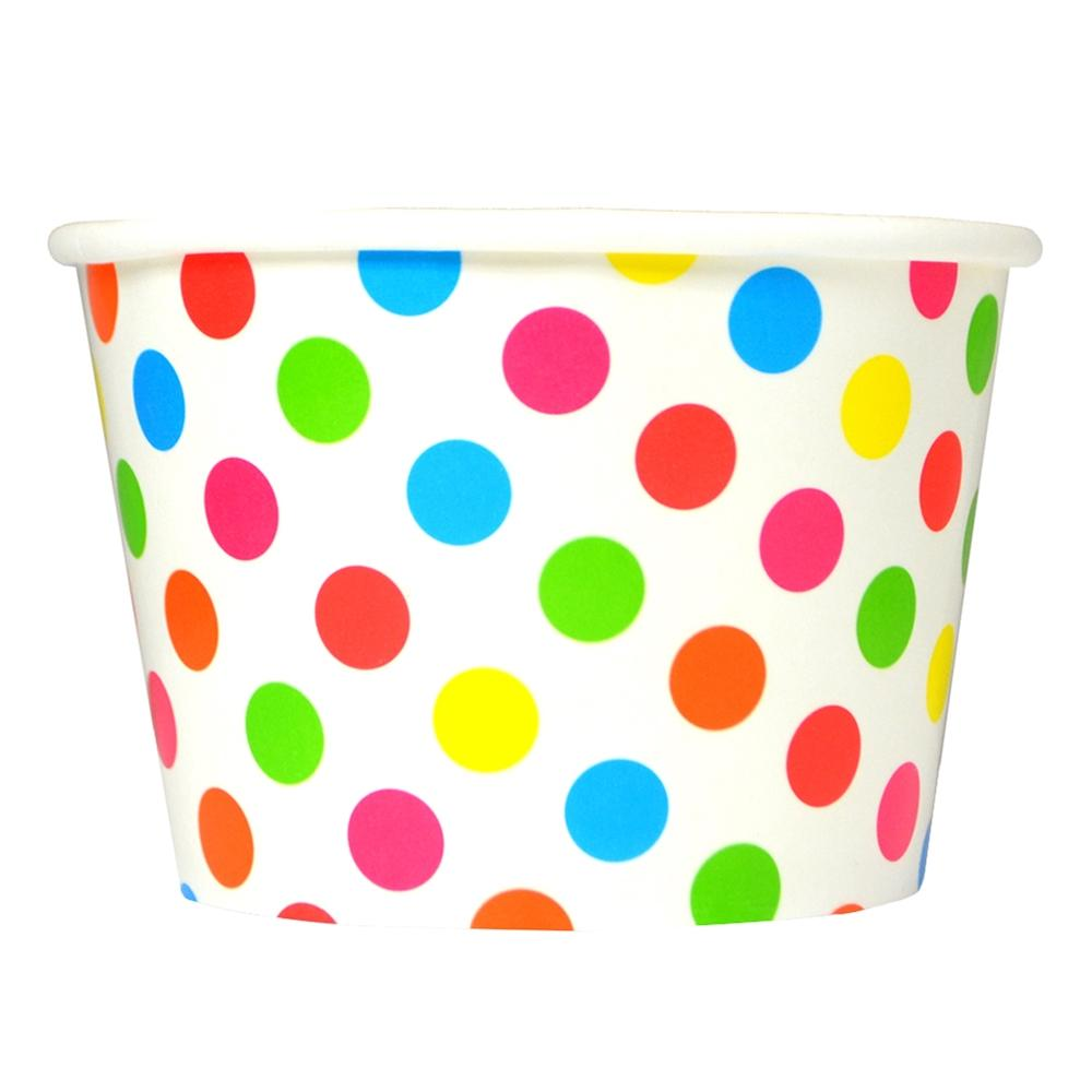 UNIQ 8 oz Rainbow Polka Dotty Take Out Cups