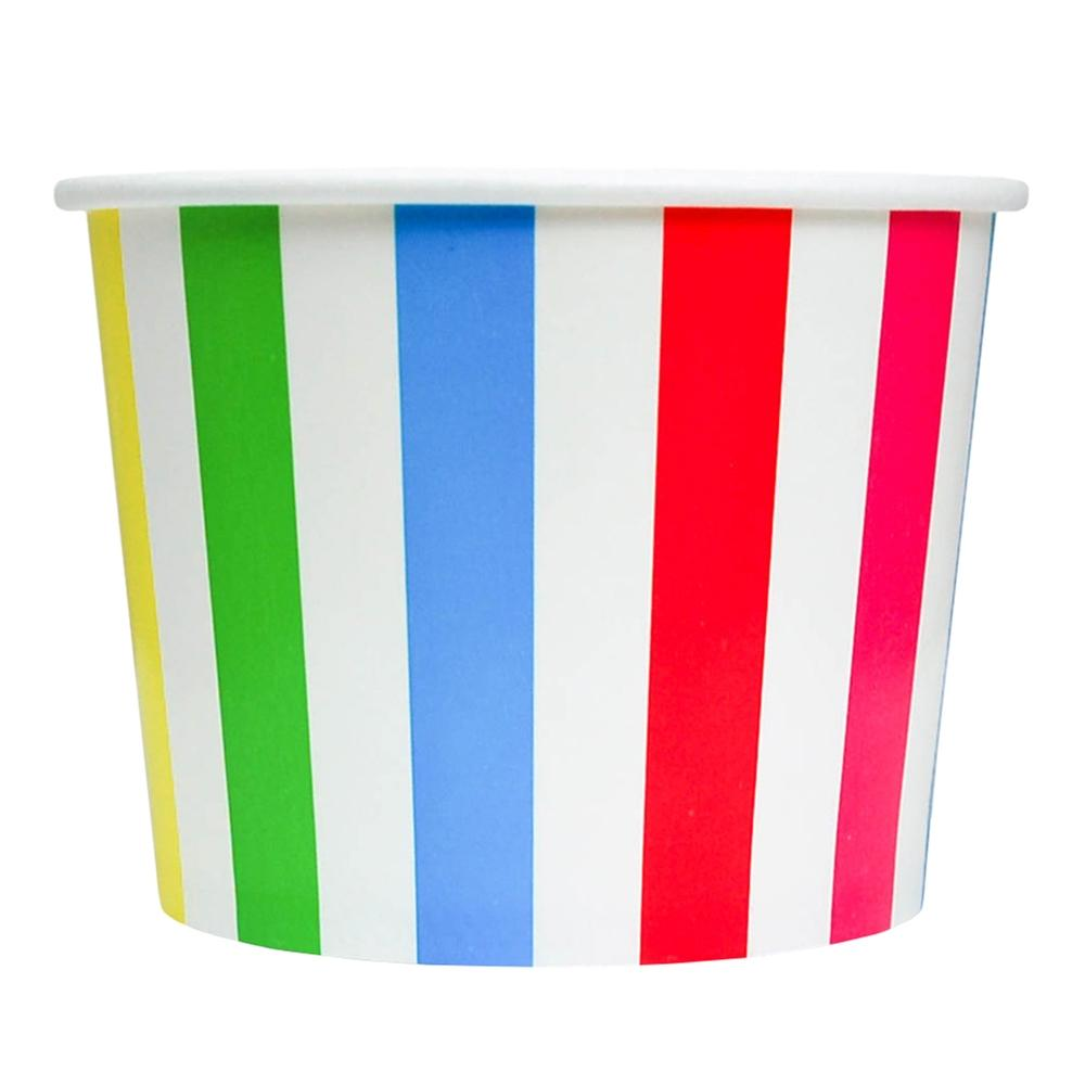 UNIQ 16 oz Rainbow Striped Madness Take Out Cups