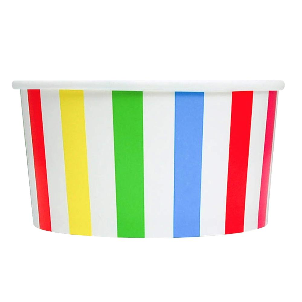 UNIQ 6 oz Rainbow Striped Madness Take Out Cups