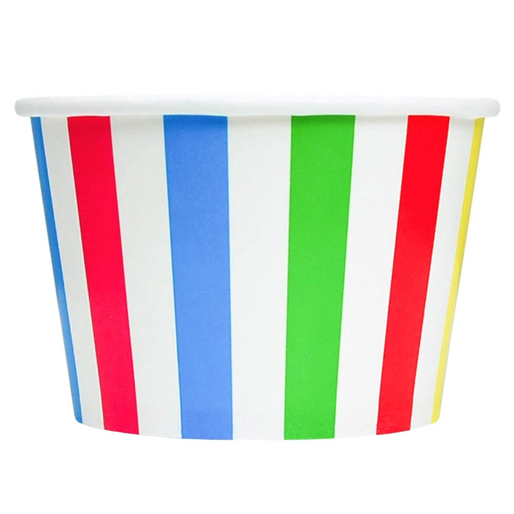 UNIQ 8 oz Rainbow Striped Madness Take Out Cups