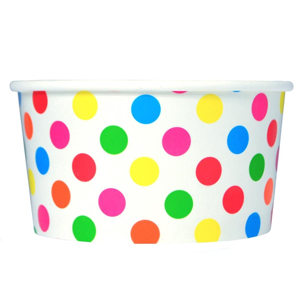 UNIQ 6 oz Rainbow Polka Dotty Take Out Cups