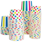 UNIQ 12 oz Rainbow Striped Madness Take Out Cups