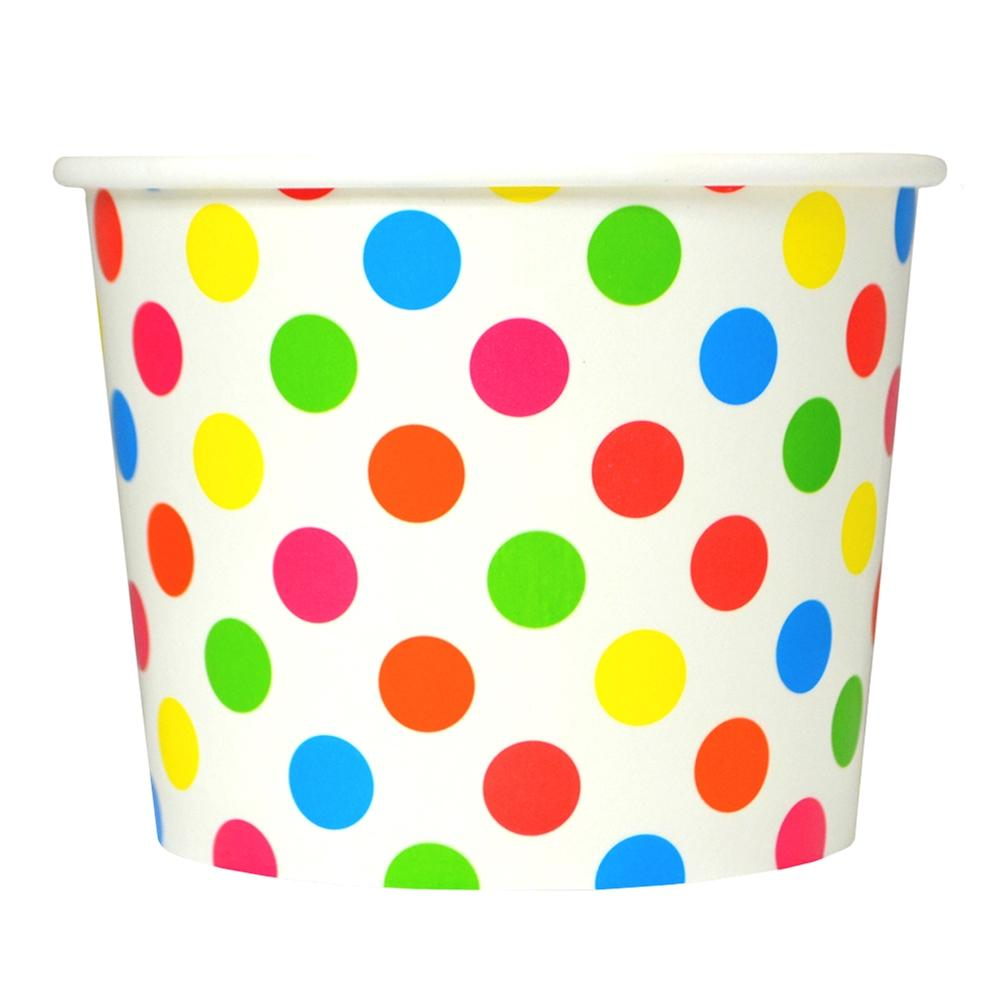 UNIQ 12 oz Rainbow Polka Dotty Take Out Cups