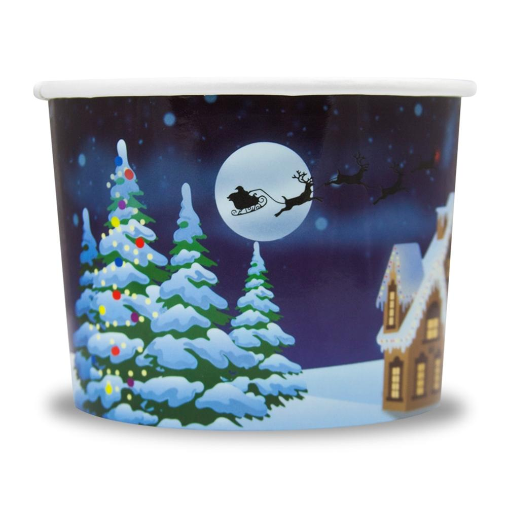 UNIQ 12 oz Santa Claus is Coming Take Out Cups