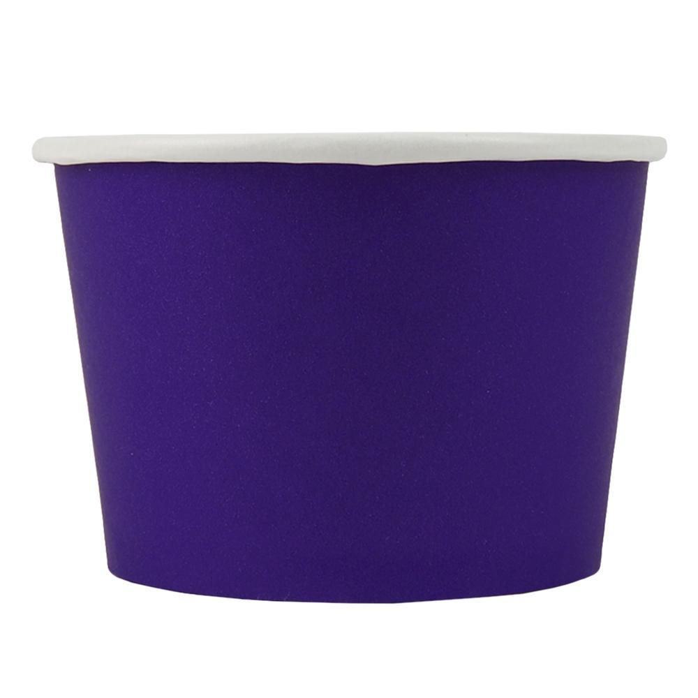 UNIQ 8 oz Purple Eco-Friendly Compostable Take Out Cups