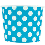 UNIQ 16 oz Blue Polka Dotty Take Out Cups