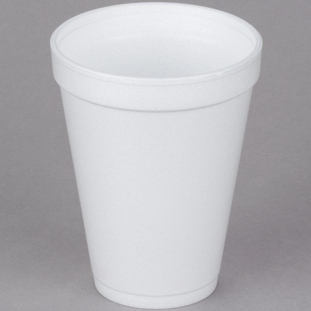 12 oz Foam Drink Cup