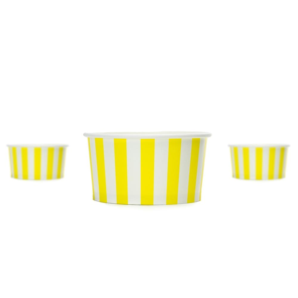 UNIQ 6 oz Yellow Striped Madness Take Out Cups