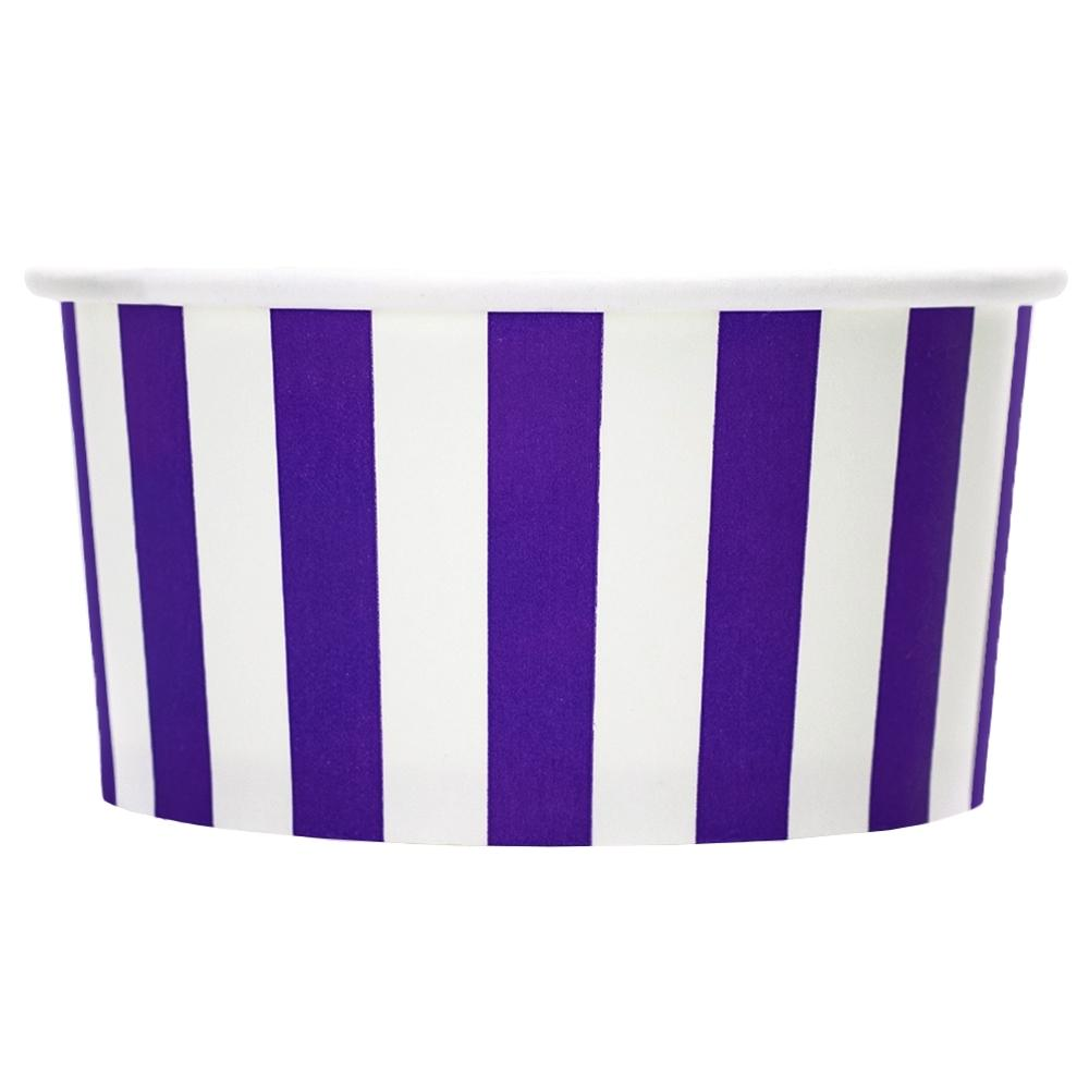 UNIQ 6 oz Purple Striped Madness Take Out Cups