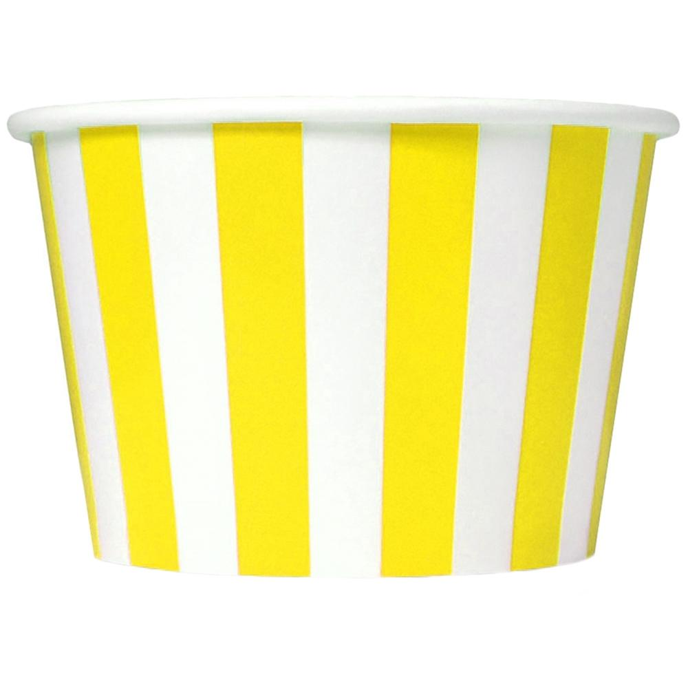 UNIQ 8 oz Yellow Striped Madness Take Out Cups
