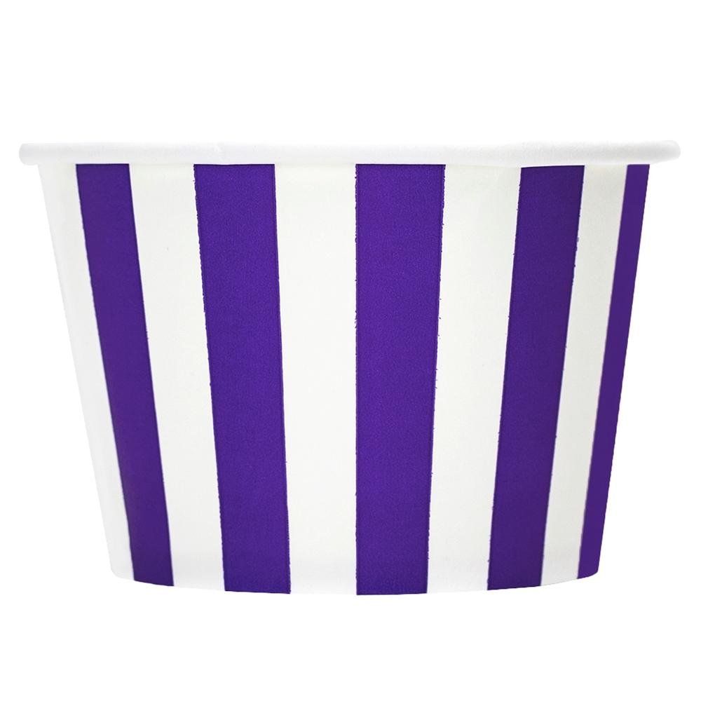 UNIQ 8 oz Purple Striped Madness Take Out Cups