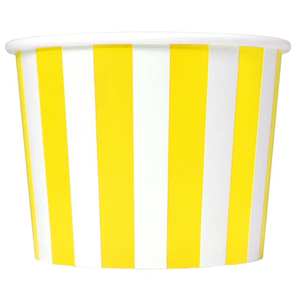 UNIQ 12 oz Yellow Striped Madness Take Out Cups