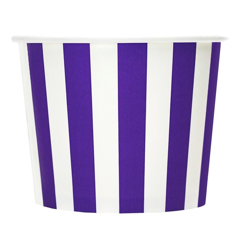 UNIQ 12 oz Purple Striped Madness Take Out Cups