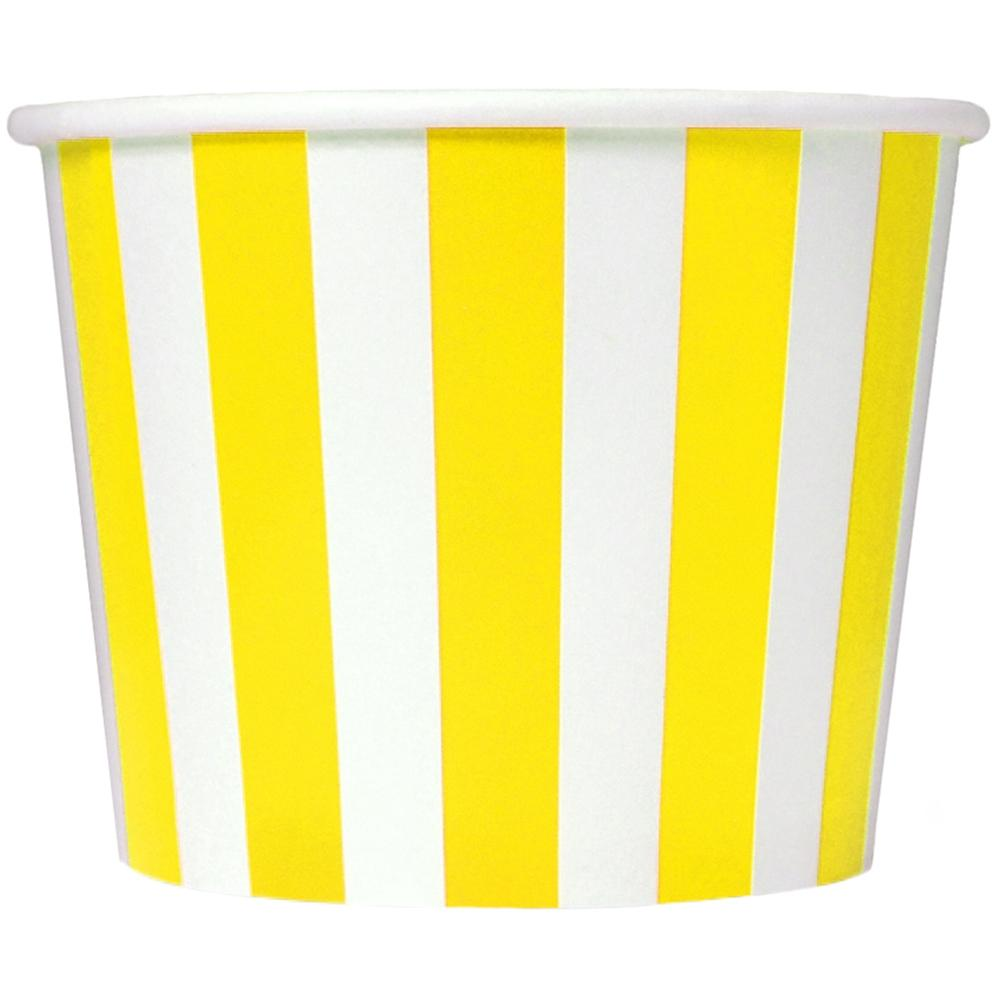 UNIQ 16 oz Yellow Striped Madness Take Out Cups