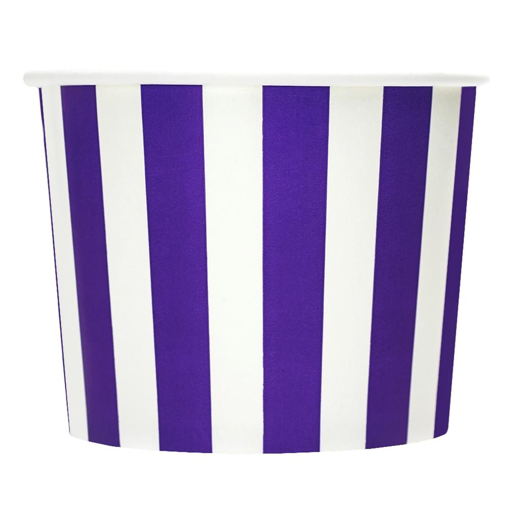 UNIQ 16 oz Purple Striped Madness Take Out Cups