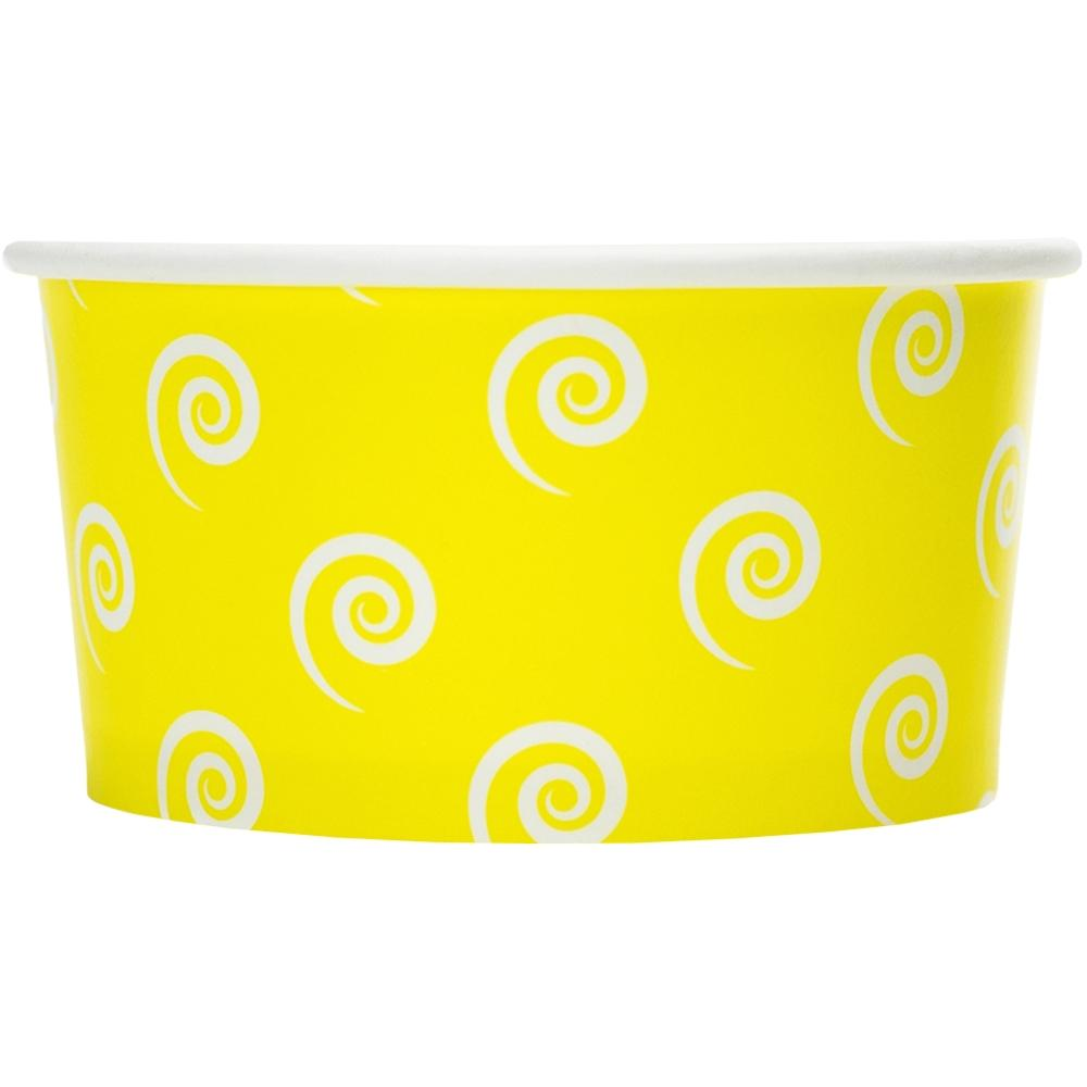 UNIQ 6 oz Yellow Swirls and Twirls Take Out Cups