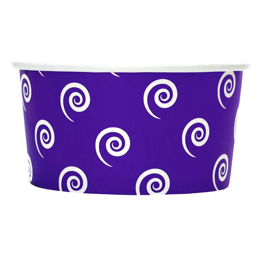 UNIQ 6 oz Purple Swirls and Twirls Take Out Cups
