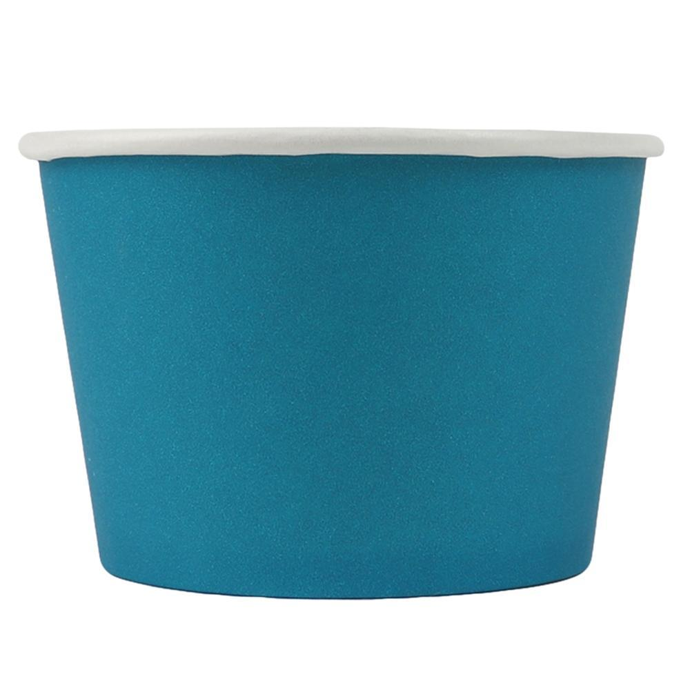 UNIQ 8 oz Blue Eco-Friendly Compostable Take Out Cups