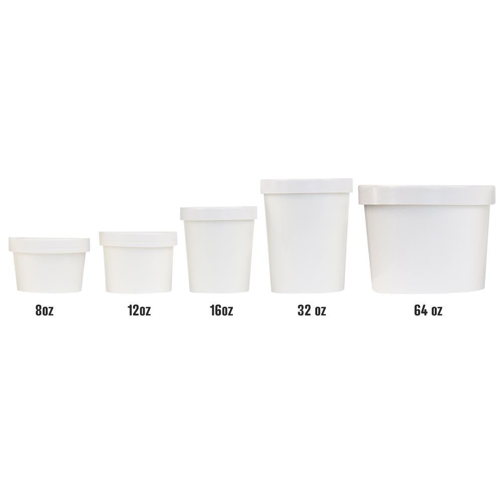 UNIQ® 8 oz Eco-Friendly Compostable Take Out Containers With Non-Vented Lids