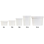 UNIQ™ Quart 32 oz Eco-Friendly Compostable Take Out Containers With Non-Vented Lids