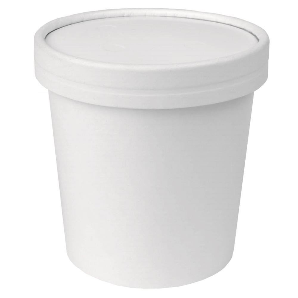 UNIQ™ Pint 16 oz Eco-Friendly Compostable Take Out Containers With Non-Vented Lids