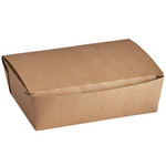 "8 1/2"" x 6 1/4"" x 2 1/2"" - Kraft Flip Top Take Out Container"