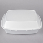 "10"" x 9 1/2"" x 3 1/2"" - Foam Clamshell Take Out Container"