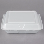 "8"" x 7 1/2"" x 2"" - Foam Clamshell Take Out Container"