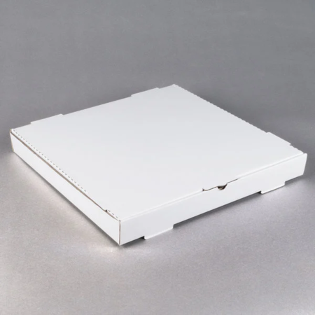 "18"" x 18"" x 1 3/4"" White Pizza Box"