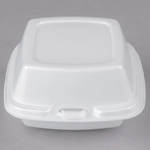 "5"" x 5"" x 3"" - Foam Clamshell Take Out Container"