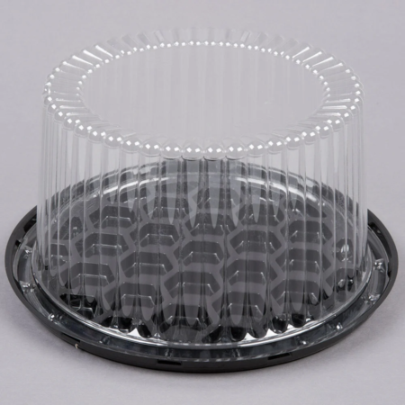 "7""  Round Cake Container with Clear Lid"