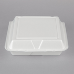 "9 1/2"" x 9"" x 3"" - Foam Clamshell Take Out Container"