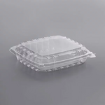 "8 5/16"" x 8 5/16"" x 2"" - Plastic Clamshell Take Out Container"