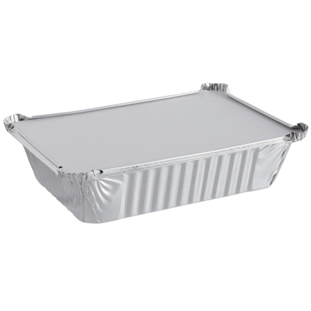 Rectangular Foil Pan with Lid - 2 1/4 lb.