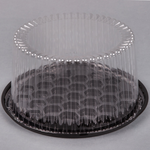 "8""  Round Cake Container with Clear Lid"