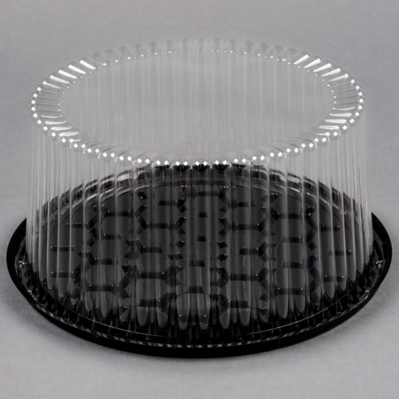 "9""  Round Cake Container with Clear Lid"