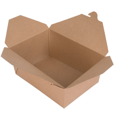 "8"" x 6"" x 3 1/2"" - Kraft Take Out Container"