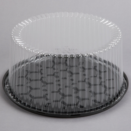 "10""  Round Cake Container with Clear Lid"